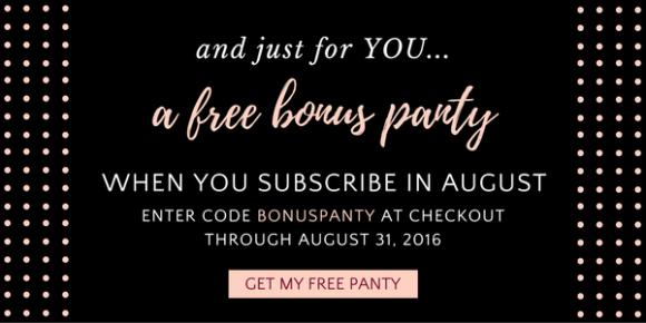 Bonus Panty August